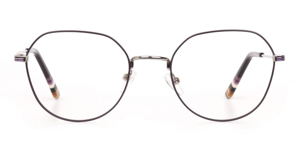 computer screen protection glasses with Oversized Metallic Purple Frame