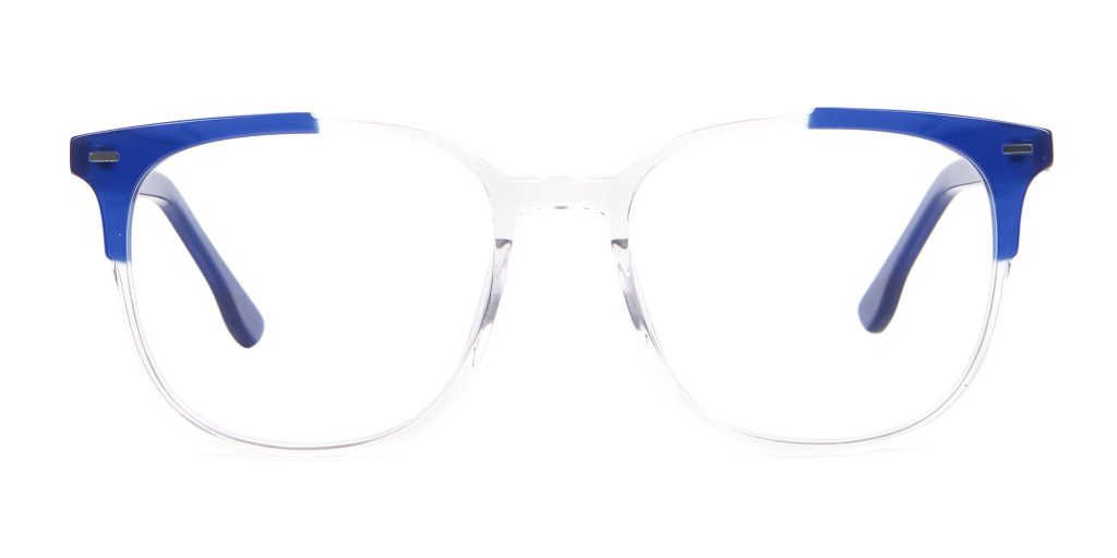 computer screen protection glasses with Translucent Navy Blue Frame